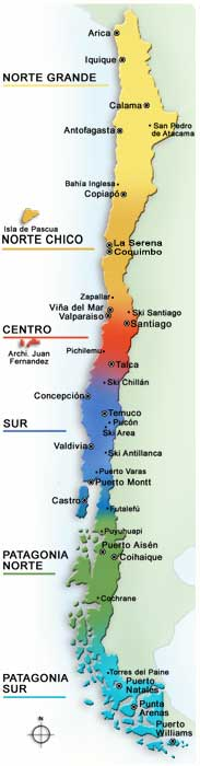Travel CHILE Site CHILE CITIES MAP - Chile cities maps